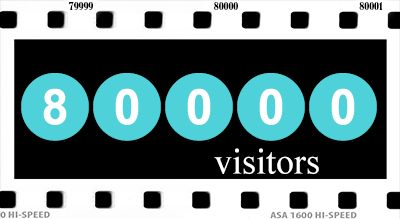 latest milestone, 80000 (80k) visitors