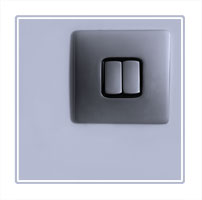 Minimalism lightswitch, part of a series of photographs depicting simple everyday items as part of a series.