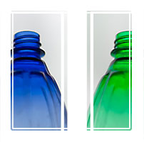 three bottles on display, part of a series of photographs depicting simple everyday items as part of a series.