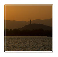 Sunset at the summer palace, one of the most romantic times to visit the palace is the evening suring sunset. Beijing China