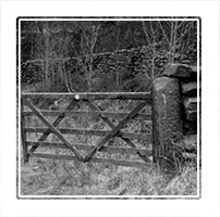 gate, Wycoller Country Park Lancashire, England
