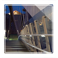 Quay bridge at night, Salford Quays, Manchester England, winner of a ephotozine readers choice award